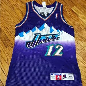 Authentic Champion John Stockon Jersey.. Utah Jazz